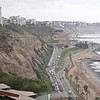 The Costa Verde, Lima. Yes it has spots of green but more prominent are those steep gravel cliffs.