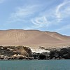 El Candelabro on the peninsula south of Paracas. Technically not difficult to explain how to dig that 200m long figure into the sand or lime stone. But it's not just heaps of sand as those would be quickly swept away by the wind.