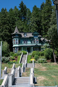 "Shelton-McMurphey-Johnson House. 1888, southern slope of Skinner Butte. ""Castle on the Hill"""