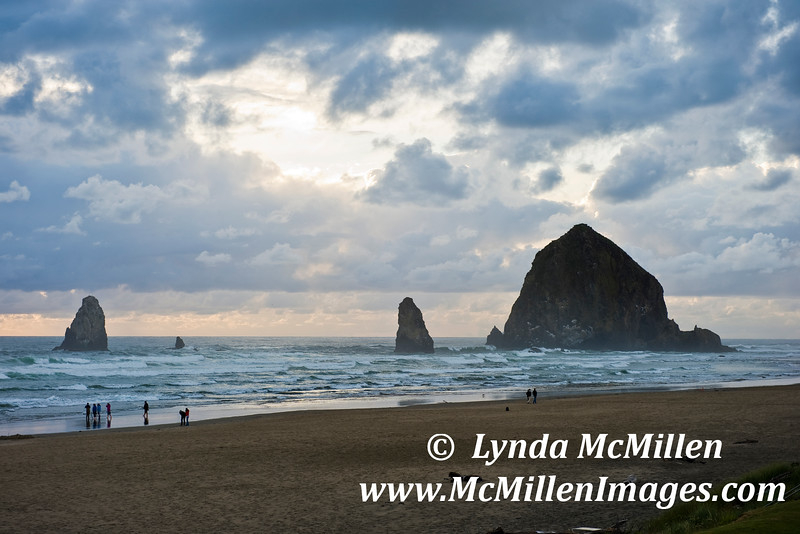 Stormy night at Cannon Beach.