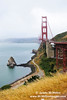 Golden Gate Bridge from northern viewpoint.