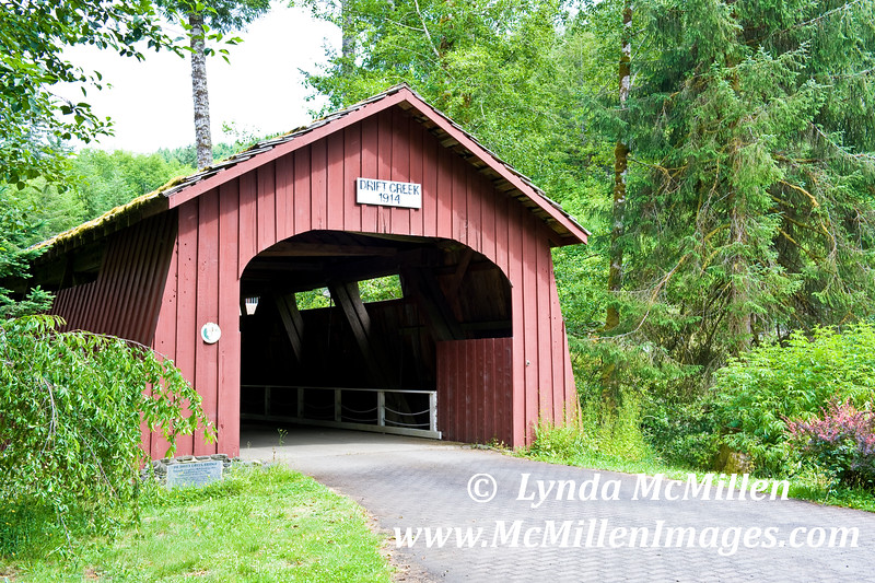 Drift Creek Covered Bridge dates to 1914.
