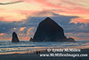 Sunset over Haystack Rock, Cannon Beach, OR