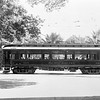Pacific Electric parlor car 020 in downtown Riverside.<br /> <br /> Photographer Unknown<br /> Jeffrey Moreau Collection