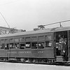 this circa 1937 view of Pacific Electric 152 in Colton on Ninth Street t J Street.<br /> <br /> Photographer Edmond Kielty<br /> Raymond E Younghans Collection