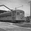 Pacific Electric 152 awaits its next assignment at the San Bernardino Carhouse on March 17, 1940.<br /> <br /> Photgrapher Frank J Bradford