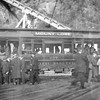 Pacific Electric 297 on the Mt Lowe Line unloads passengers at the Rubio Canyon train shed circa 1914.<br /> <br /> Photographer Unknown<br /> Jeffrey Moreau Collection