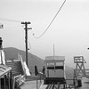 Al Haij took this picture at Echo Mountain from the top of the Incline Cable House during Railroad Boosters Excursion #5 on December 5, 1937. Incline car 1 and a 30-series car are featured.<br /> <br /> Jeffrey Moreau Collection