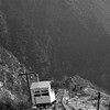 Taken from Iincline car number 2, Pacific Electric incline car number 1 is seen at the passing siding half-way up the incline between Rubio Canyon and Echo Mountain. This picture was taken during the Railroad Booster Excursion #5 on December 5, 1937.<br /> <br /> Photographer Unknown<br /> Jeffrey Moreau Collection