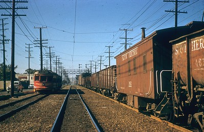 PE Freight on the Four Tracks circa Late 1950s