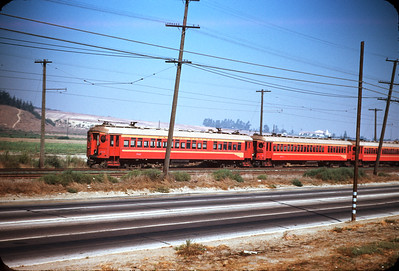 Metropolitan Coach Lines 302, 404, and 420 on the Long Beach Line at Dominguez Jct. September 19, 1954.  Photographer Ray Ballash