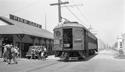 Passenger Stop at Huntington Beach - 1946