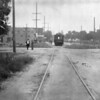Pacific Electric De-luxe car 02 is conducting a survay trip on the Glendale-Burbank Line circa 1912.<br /> <br /> Photographer Unknown<br /> Jeffrey Moreau Collection
