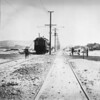 Pacific Electric deluxe car 02 is seen in Hermosa Beach on the Redondo Beach via Playa Del Rey Line during a circa 1912 survey trip.<br /> <br /> Photographer Unknown<br /> Jeffrey Moreau Collection
