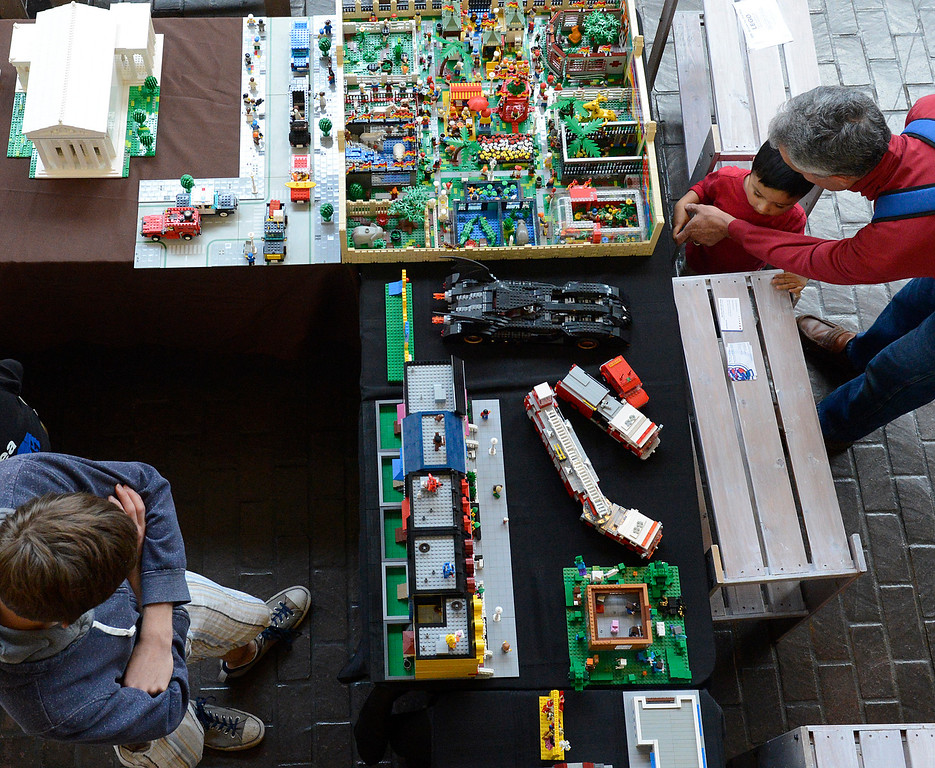 . LEGO Models on display during the Pacific Grove Summer LEGO show inside the American Tin Cannery on Saturday July 2, 2016.  (David Royal - Monterey Herald)