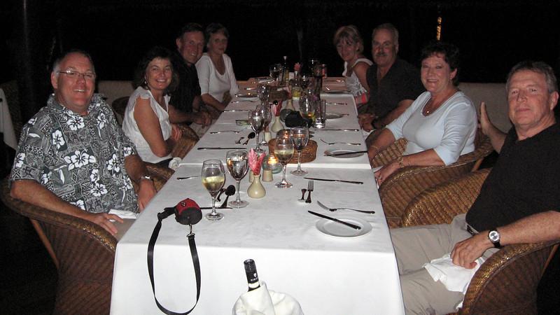 Dinner with people we met on Aitutaki.