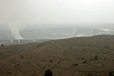 Halema'uma'u crater from atop Kilauea rim