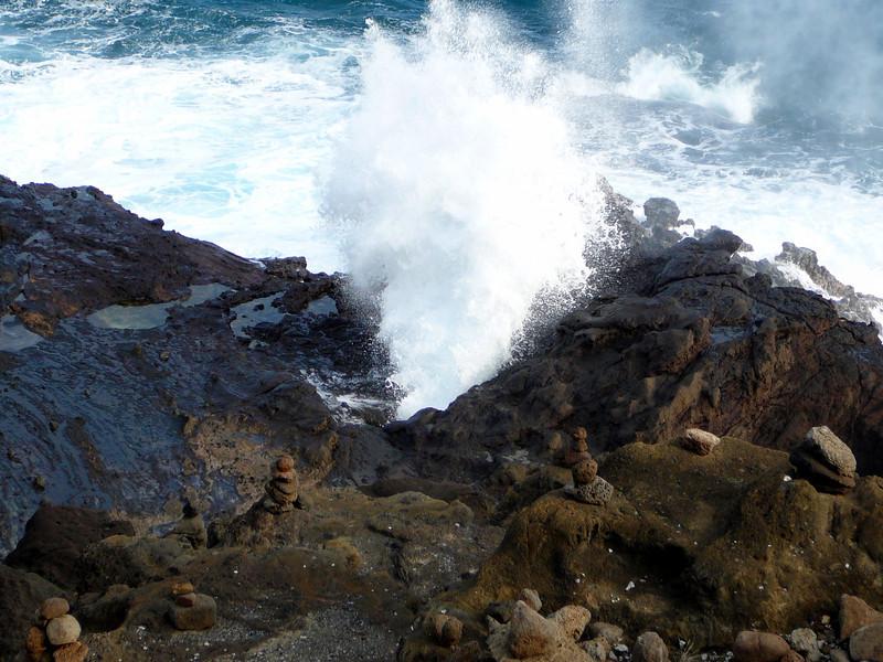 Blowhole near Halona Cove on Oahu.