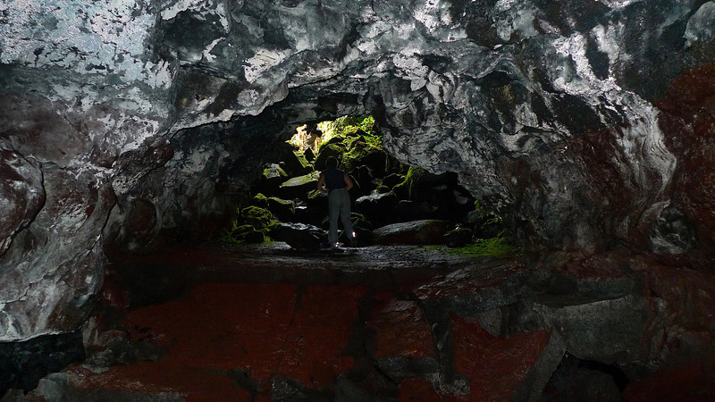 The entrance of the lavatube.