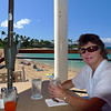 Robyn at the Sea House restaurant and cafe which overlooks Napili beach. We also had dinner here one night for Robyns Birthday.