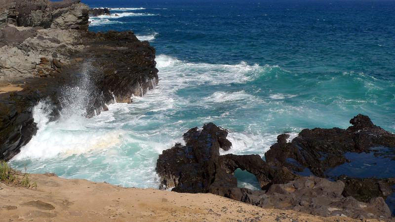 Part of the Coastal Trail between Kapalua Bay and Oneloa Bay.