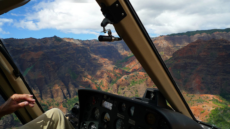 Waimea canyon. As you can see we had the front seats.