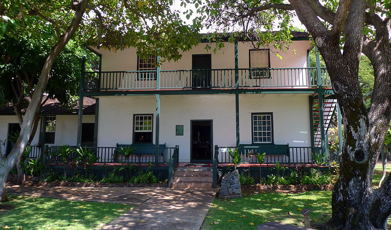 Baldwin House in Lahaina one of the historic homes in the town. Built in 1835.
