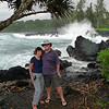 Russell & Robyn at Ke'anae Point.