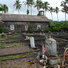 The church at Ke'anae Point. or to give its correct title the 'Ihi 'ihi' o lehowa o na Kaua Church. the grave at the front was someone local killed in Iraq.