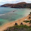 Hanauma Bay on Oahu. A very popular snorkeling spot.