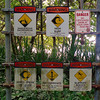 Warning signs on the track to Kahalahala Beach. You can't be too careful.