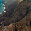 "The stunning Napali Coast. Na Pali means ""the Cliffs"" in Hawaiin. These cliffs are 4000' high (thats about 1.2km)."