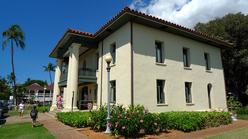 The original Lahaina Courthouse dating from 1859.