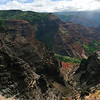 "Another shot of the Waimea Canyon. The canyon is known as the ""Grand Canyon"" of the Pacific thanks to Mark Twain. It is 16km long and around 900m deep. There are a number of side canyons."