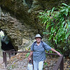 Russell at the entry to Avaiki Cave