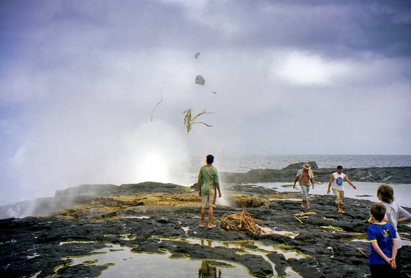 The Alofa'aga blowholes on Savaii are supposed to be the largest in the world at over 30m high. The locals throw coconuts in them to have them blown up into the air.