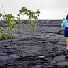 Robyn at the lava field on Savaii. The field was created in the eruptions of 1905-11. This was part of another Green Turtle trip we did around Savaii.