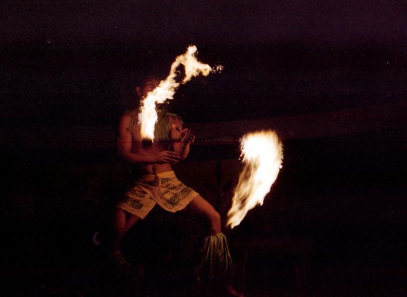 Fiafia fire dance at the Tusitala.