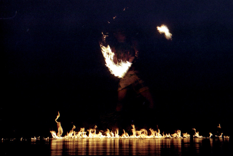 Fiafia fire dance at the Tusitala.