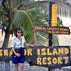 Robyn at the Erakor Island Resort in Vila.