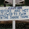 Helpful sign at the Blue Water aquarium near Port Vila.