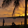 Sunset on the waterfront in Port Vila.