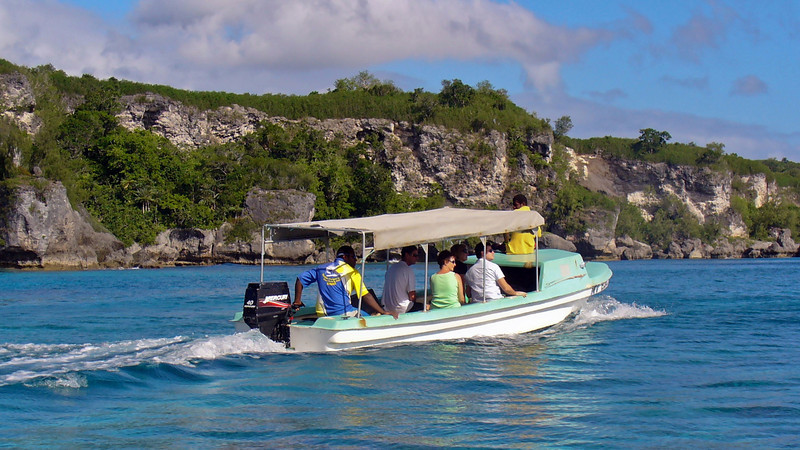 Boating out to Lelepa Island in Havana Harbour. Its a great day trip.