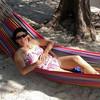 Robyn resting at Lelepa island.