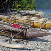 Canoes at the village on Lelepa Island.
