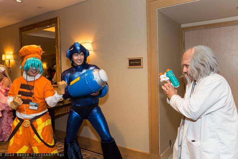 Kite, Mega Man, and Dr. Wily