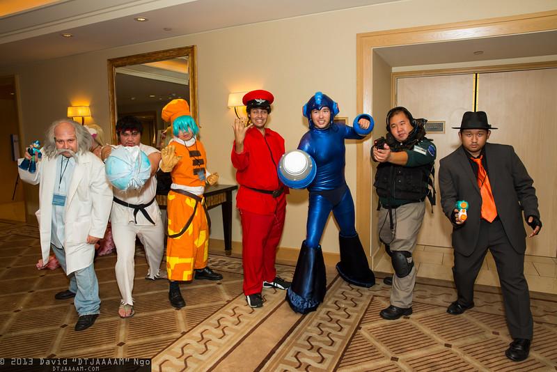 Dr. Wily, Ryu, Kite, M. Bison, Mega Man, Chris Redfield, and Rikiya Busujima