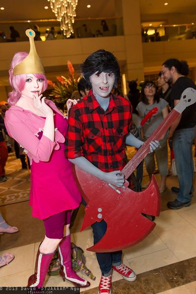 Princess Bubblegum and Marshall Lee