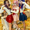 Sailor Mars, Sailor Chibi Moon, and Sailor Moon