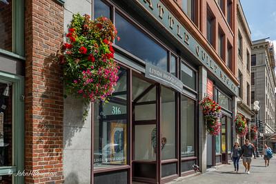 Flower Baskets Decorate 1st Avenue Gallery